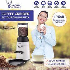 Electric Coffee Grinder Sunbeam GrindFresh Bean 25 Grinding Settings Conical Bur