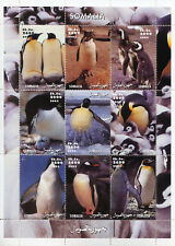 Somalia 2002 MNH Penguins Emperor Penguin 9v M/S Birds Stamps