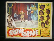EBONY PARADE - 1947 ALL BLACK MUSICAL - LOBBY CARD - AFRICAN AMERICANA