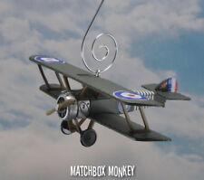WWI Sopwith Camel Biplane RAF Royal Air Force Aircraft Christmas Ornament plane