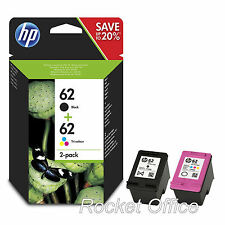 Genuine HP 62 Black & Colour Ink Cartridge For ENVY 5540 Inkjet Printer
