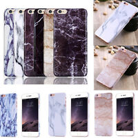 For iPhone 6 6s Plus Printed Stone Marble Pattern Thin Slim Hard Back Case Cover