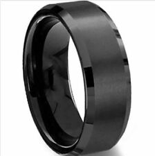 Mens Jewelry Stainless Steel Black Boys Vintage Bands Rings Size 8