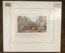 Original Antique Tinted Lithograph John Murdoch W Allan Old Linlithgow c1880