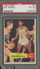 """Bill Russell 1957 Topps Basketball Rookie Card #77 PSA 4 VG-EX """" HOT CARD """""""