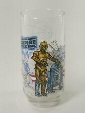 Star Wars The Empire Strikes Back R2-D2 & C-3Po Burger King Coke Glass 1980