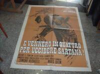 Vennero IN Quattro For Killer Sartana Manifesto 2F Original 1969 J.Cameron
