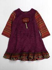 Toddler Girl Zaza Za Couture Purple Funky Fall Winter Dress Size 3T