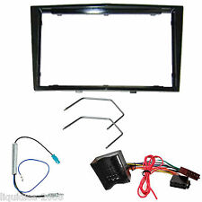 VAUXHALL ASTRA H 2004 ONWARDS BLACK DOUBLE DIN FASCIA FACIA FITTING ADAPTER KIT