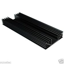 SS6128 TO-3 holes x8 Aluminum Black Heatsink Heat Sink Audio Amplifier