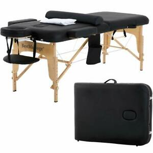 """New BestMassage 2.5"""" Pad PU Portable Massage Table Facial Spa Bed W/Carry Case"""