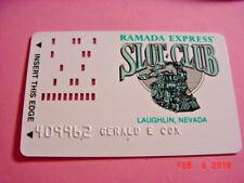 Ramada Express Slot Club Old Punch Card Laughlin, Nevada