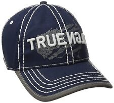 NEW TRUE RELIGION MEN'S CLASSIC PREMIUM BASEBALL TRUCKER HAT CAP NAVY TR1954