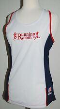 RUNNING ROOM Women's Fitness Tank Top - White Mesh - Team USA - Size M Medium