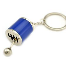 1*Mini Car Brake Disc Shape Gear Stick Knob Keychain Keyfob Keyrings Blue Metal