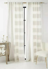 "NEW ANTHROPOLOGIE GREY MOTIF WOVEN RAYAS CURTAIN WINDOW PANEL 50"" X 63"""