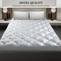 Cooling Cool Mattress Pad Cover Topper King Size Sleeping Cotton Comfort Bed
