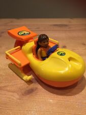 Go Diego Go To The Rescue Fan Boat & Figures Playset Nick Jr Fisher Price Safari