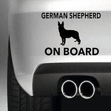 Berger allemand à bord voiture autocollant autocollant vinyle jdm 4X4 funny dog