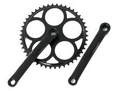 Black Fixie Crankset Crank Single Speed Crankset 46T