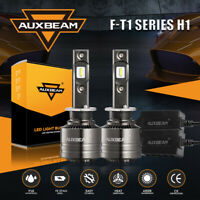 AUXBEAM H1 LED Headlight High/Low/Fog Bulbs 70W 8000LM 6500K+Canbus Decoder T1