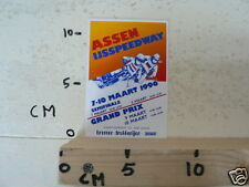 STICKER,DECAL ASSEN IJSSPEEDWAY HALVE FINALE WK 1996 HOLLAND