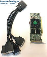 Matrox Mgi QID-E128LPAF 128MB DDR2, Pcie x16 Quad DVI Mit KX20 Cable Low-Profile