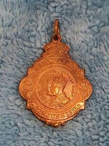 1911 KING GEORGE V & QUEEN MARY CORONATION MEDALLION LET GLASGOW FLOURISH
