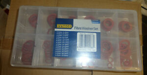 SYNECO 150PC ASST SIZES FIBRE WASHER SET IN CASE NEW