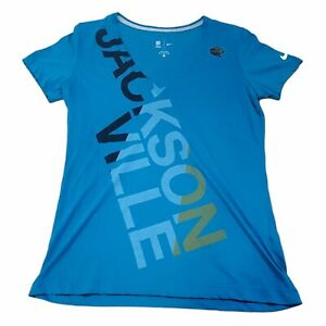 Jacksonville Jaguars Nike NFL Team Apparel Women's Teal V-Neck Shirt XL NWOT