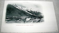 Vintage Chamonix et Le Mont Blanc, French Alps Postcard  - UDB Undivided Back