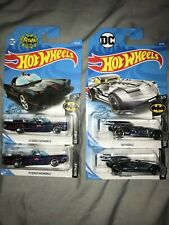 RARE HOT WHEELS 2020 BATMAN INCLUDES TV SERIES BATMOBILE AND CHROMED BATMOBILE