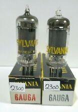 2 Matching Sylvania 6AU6 EF94 Vacuum Tubes Tested NOS on Calibrated Hickok