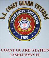 US COAST GUARD STATION YANKEETOWN-FL *COAST GUARD VETERAN EMBLEM*SHIRT
