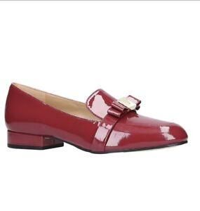 Women MK Michael Kors Caroline Loafers Patent Leather Scarlet