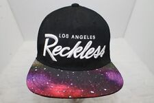 Young & Reckless Los Angeles Snapback Hat Space Galaxy RARE Skate Board Hat