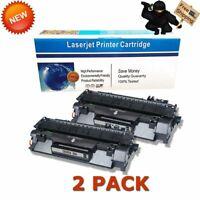 2pk CE505A Printer Ink Toner Cartridges for HP 05A LaserJet P2035n P2055dn Black