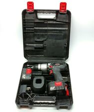 "Craftsman 12 Volt 3/8"" Cordless Electric Drill Set W/ Case Charger Batteries"