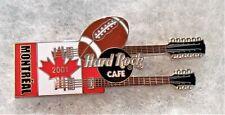 HARD ROCK CAFE MONTREAL FLAG DOUBLENECK GUITAR WITH FOOTBALL PIN # 5881