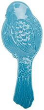 Lg Spoon Rest Ceramic Sweet Blue Bird Classic Cooking Kitchen Home Decoration