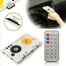 Portable Auto Telecontrol Tape Cassette SD Card MP3 Player Audio Stereo Adapter