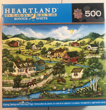Fishing Sailing And Catching Frogs 500 Piece Puzzle Heartland Bonnie White