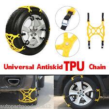 3pc/Set Car Van Snow Tire Anti-skid Chains Beef Tendon Wheel Antiskid TPU Chains