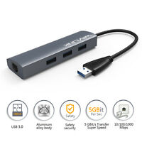 USB 3.0 HUB with Gigabit Ethernet ,3 Port With RJ45 LAN Network Adapter for PC