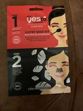 Yes To Tomatoes 2 STEP Blocked Pore NOSE KIT Cleanser & Nasal Strip New (2 Pack)