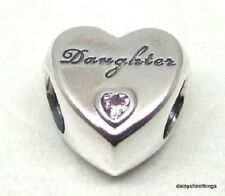 NEW! AUTHENTIC PANDORA SILVER CHARM  DAUGHTER'S LOVE #791726PCZ   HINGED BOX