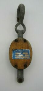 Antique Wood  Pulley Block & Tackle