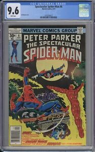 Peter Parker, Spectacular Spider-Man #6 CGC 9.6 NM+ Wp Marvel 1977 Early Morbius