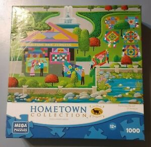 Hometown Collection Quilting Bee 1000 Piece Jigsaw Puzzle Mega Games Heronim