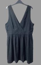 H&M V-neck dress Black Size UK 20 rrp £20 DH099 HH 18
